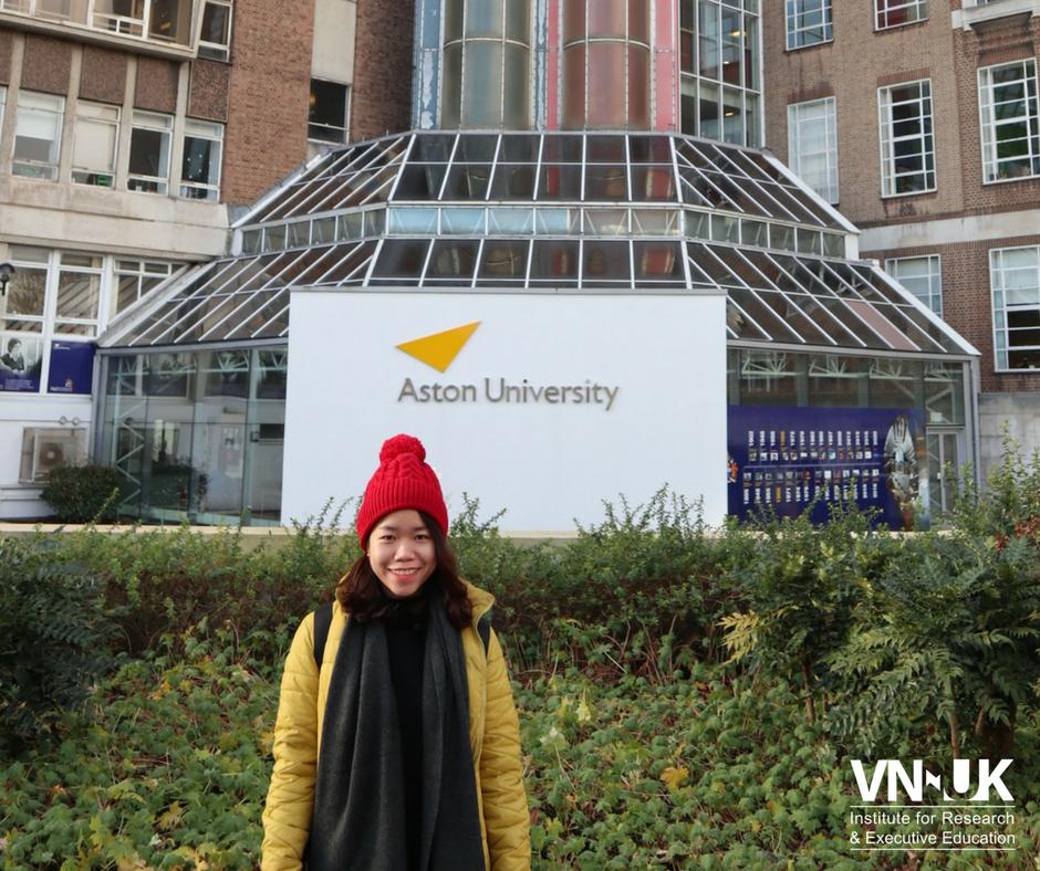 Sinh viên đầu tiên của VNUK tham gia chương trình trao đổi sinh viên tại Đại học Aston, Anh quốc!