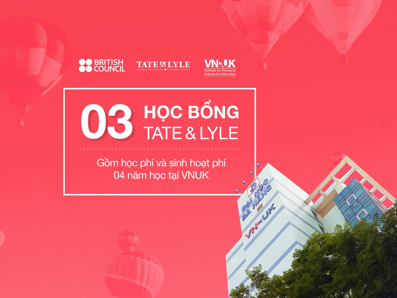 Tìm kiếm chủ nhân HỌC BỔNG TATE&LYLE năm học 2018 – 2019
