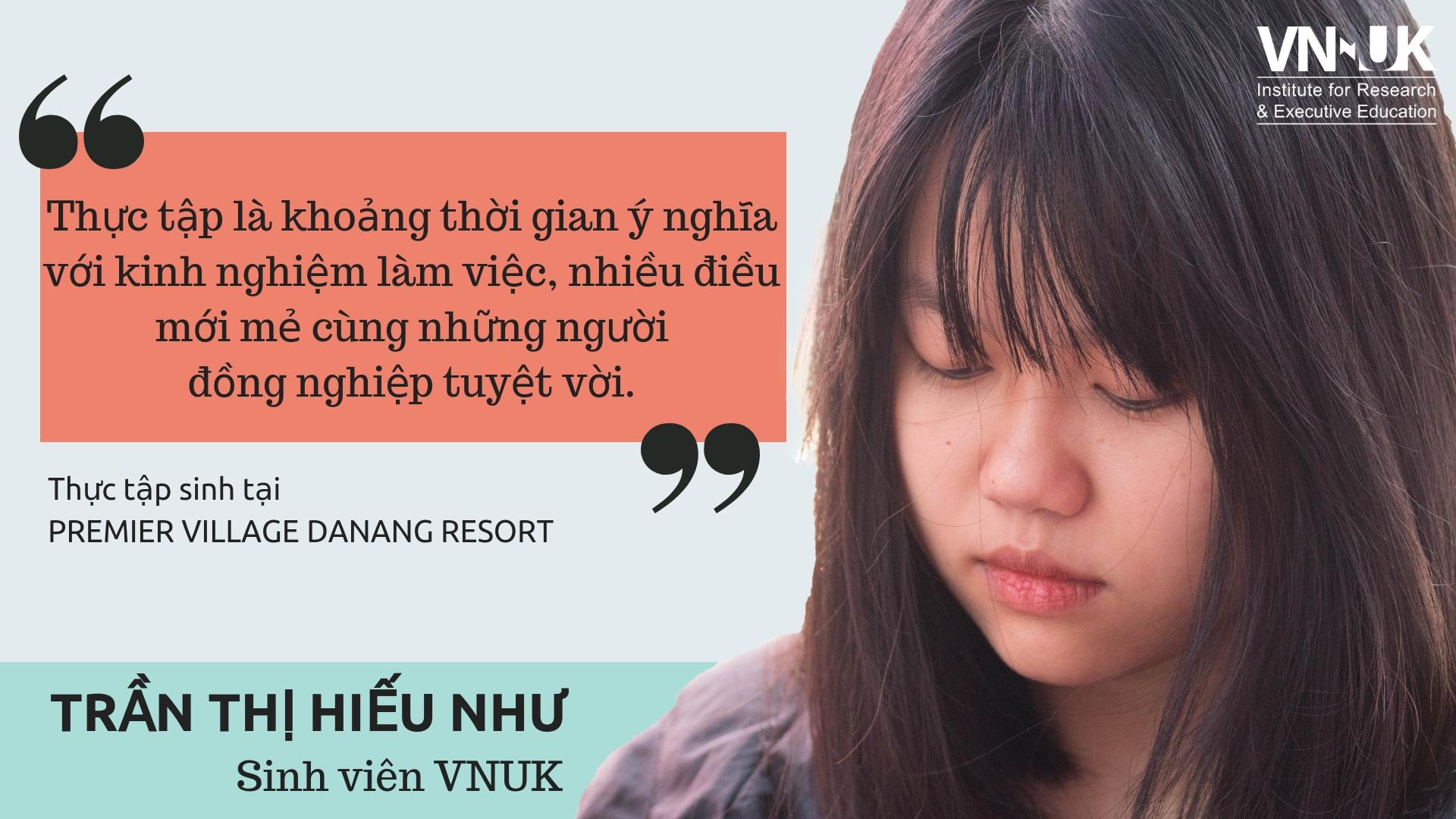 [Góc thực tập] Sinh viên VNUK chia sẻ về kì thực tập đẳng cấp quốc tế tại Premier Village Resort